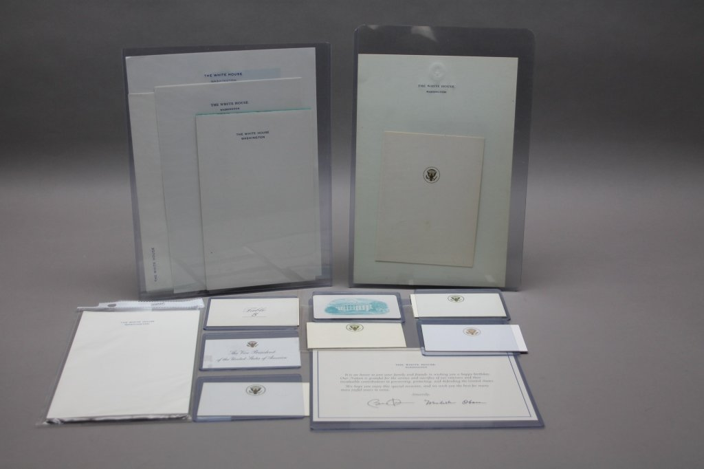 Over 32 items: White House place cards, McKinley. - 2