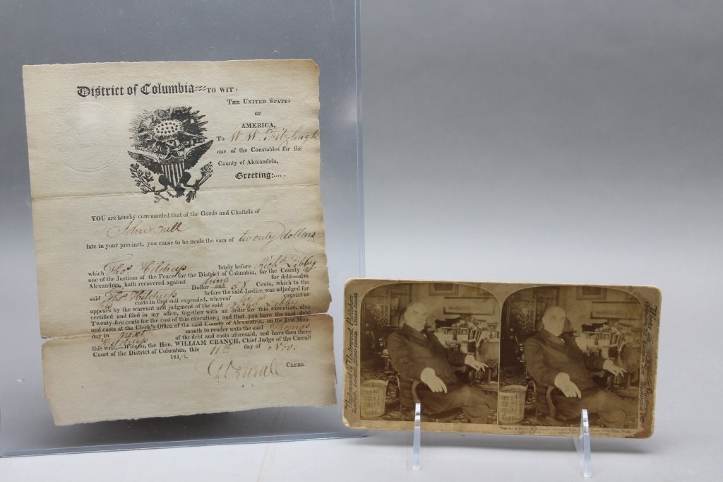 Over 32 items: White House place cards, McKinley. - 3