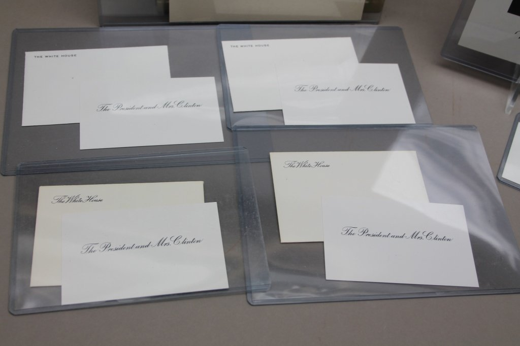Over 32 items: White House place cards, McKinley. - 6