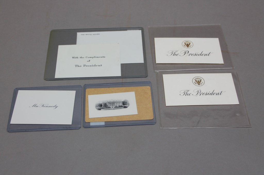 Over 32 items: White House place cards, McKinley. - 8