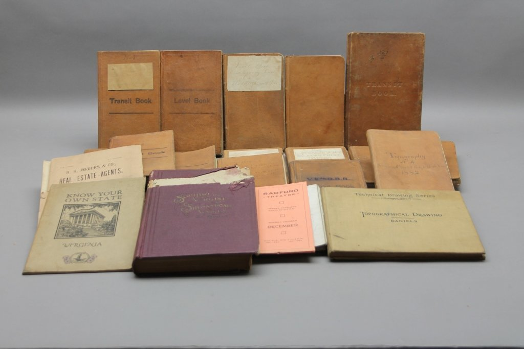 19 Vols incl 15 surveys owned by CW Gen. Wharton
