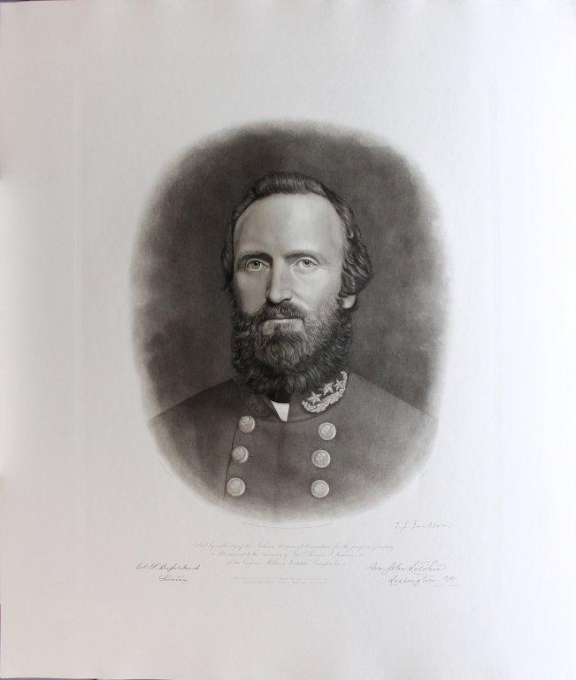10 restrike engraved portraits: 5 Lee, 5 Stonewall