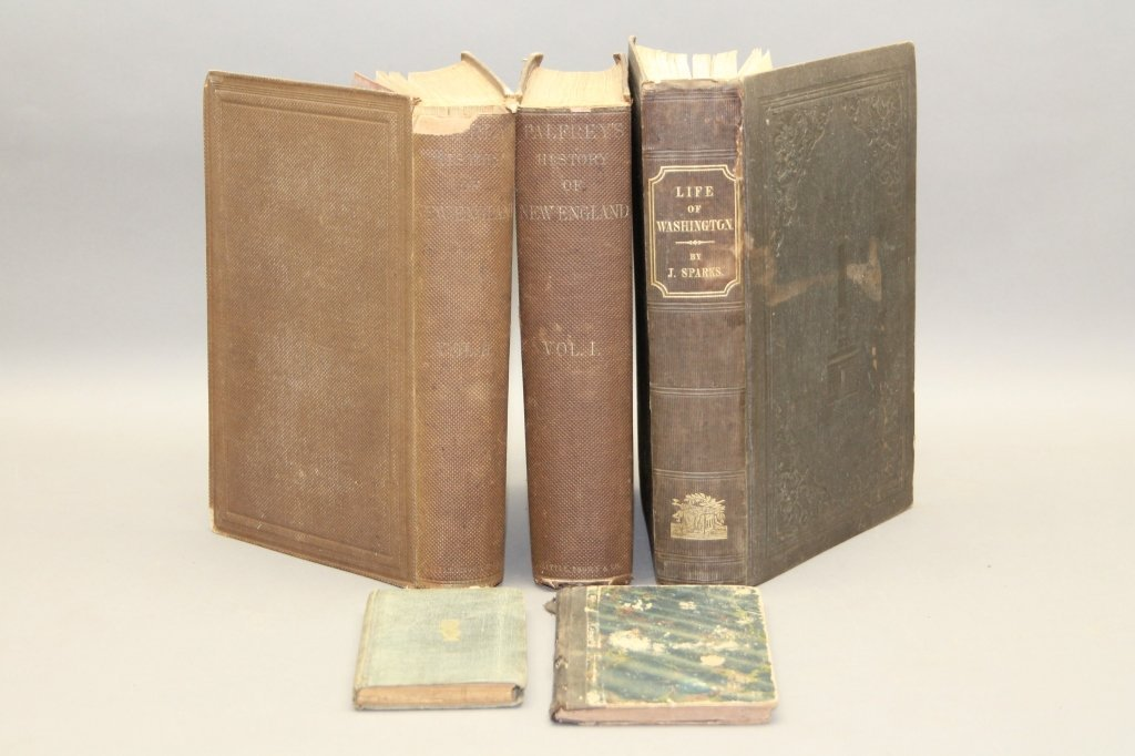 5 Vols incl: Palfrey. HISTORY OF NEW ENGLAND.