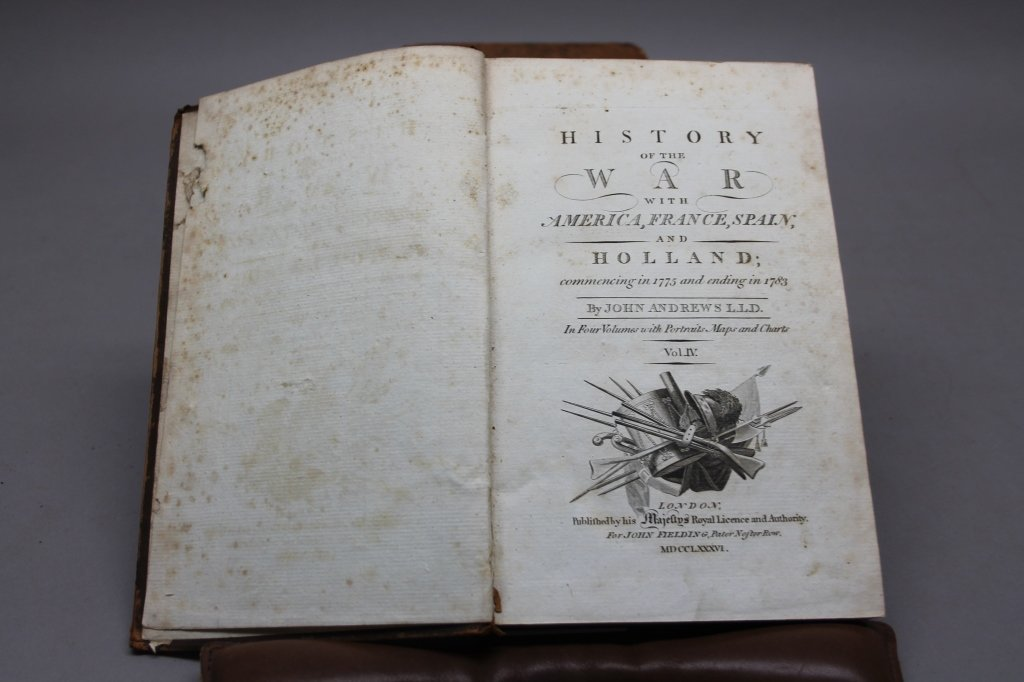 HISTORY OF THE WAR WITH AMERICA. 4 Vols. 1785-1786