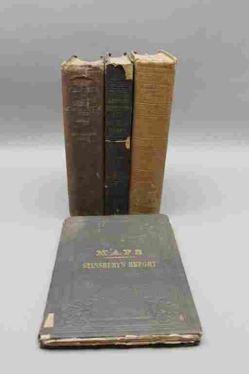 4 Vols: Stansbury, ...SALT LAKE, 1853 + 2 others.