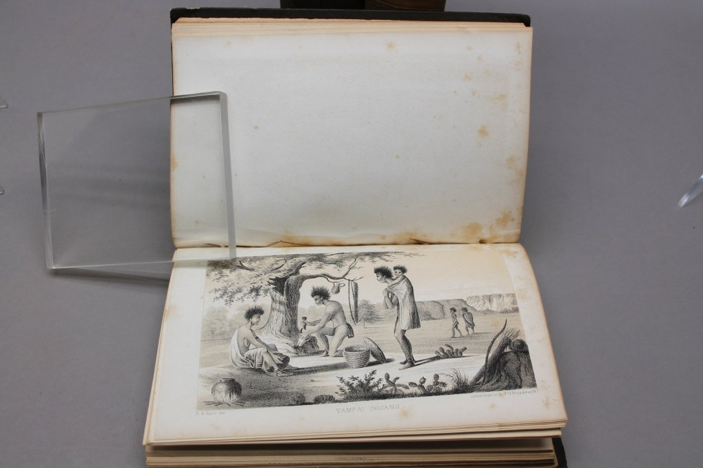 4 Vols: Stansbury, ...SALT LAKE, 1853 + 2 others. - 5