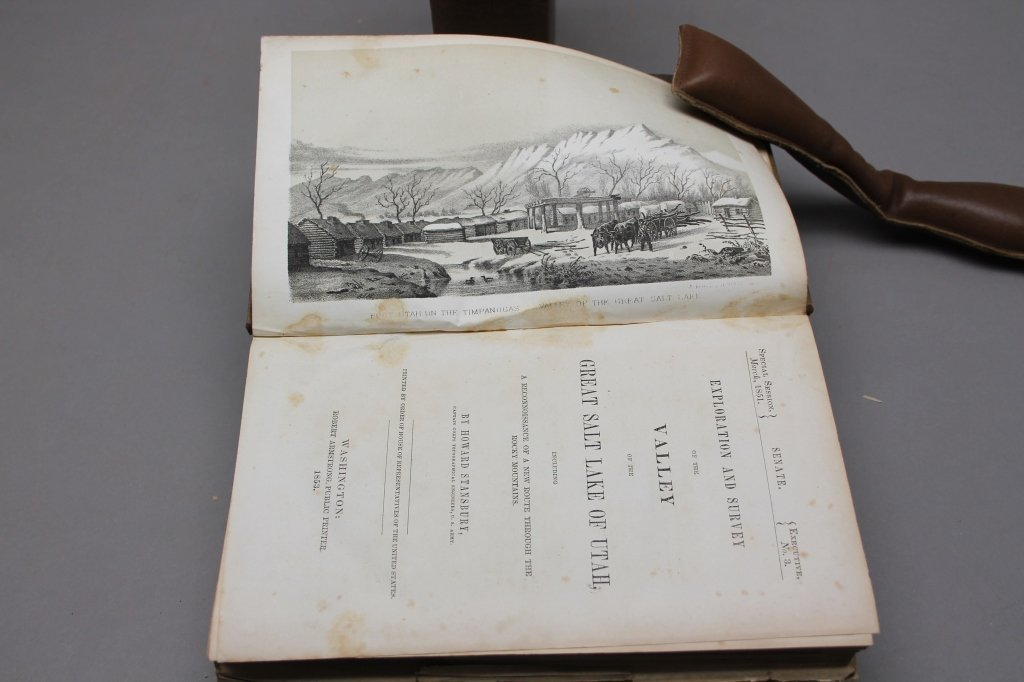 4 Vols: Stansbury, ...SALT LAKE, 1853 + 2 others. - 6