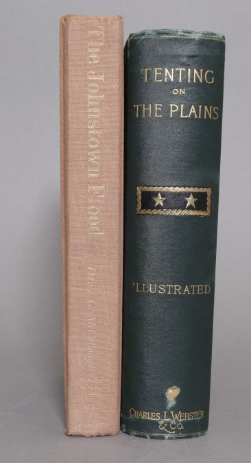 2 Books: Custer. TENTING ON THE PLAINS, McCullough