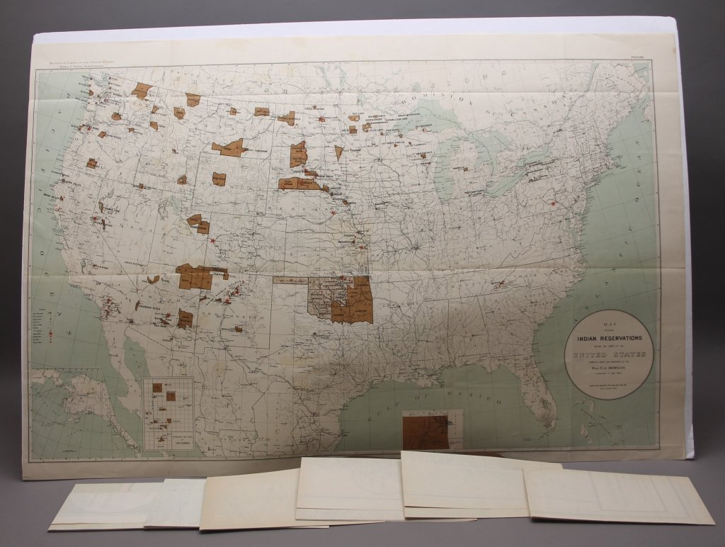 7 folding maps: Indian Reservations (1892)-1920.