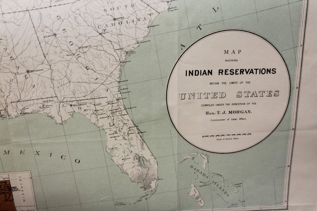 7 folding maps: Indian Reservations (1892)-1920. - 2