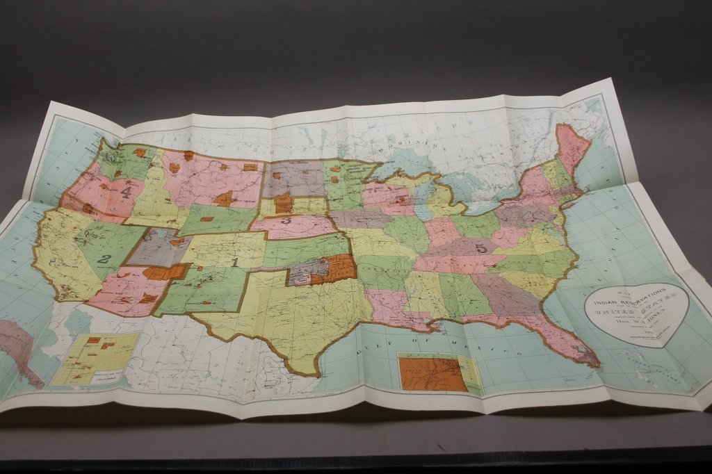7 folding maps: Indian Reservations (1892)-1920. - 7
