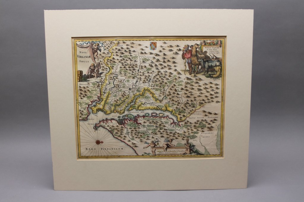 Nova Virginia Tabula. [1671 or later].