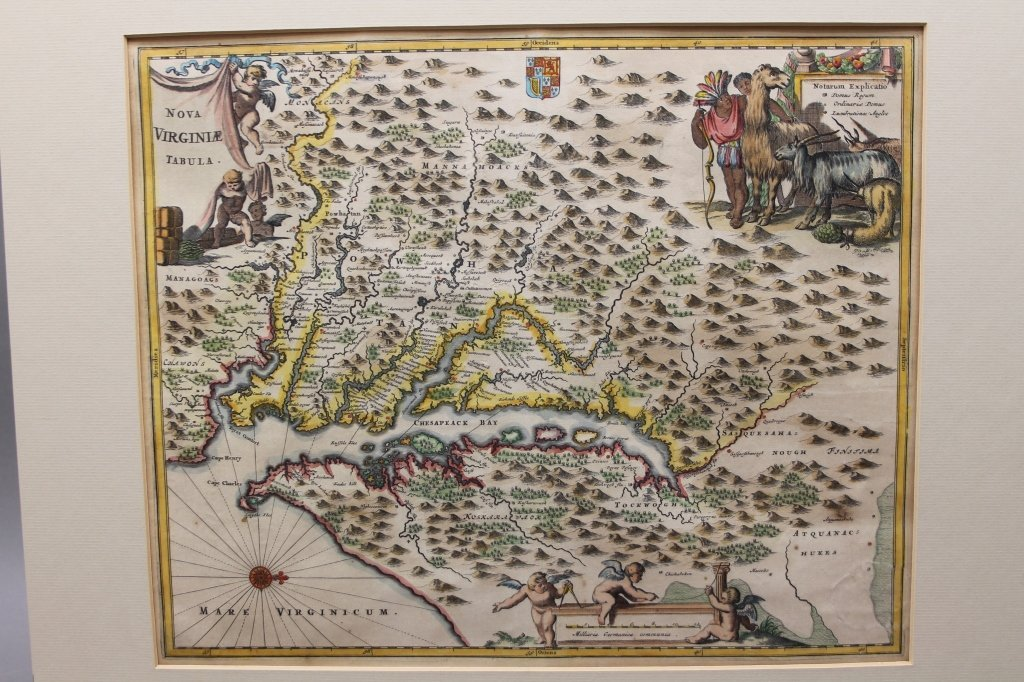 Nova Virginia Tabula. [1671 or later]. - 6