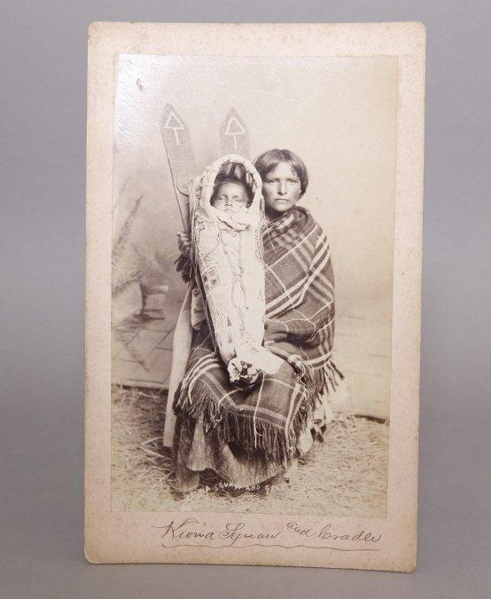 Sawyer's Indian Art Photo: Kiowa Squaw & Cradle