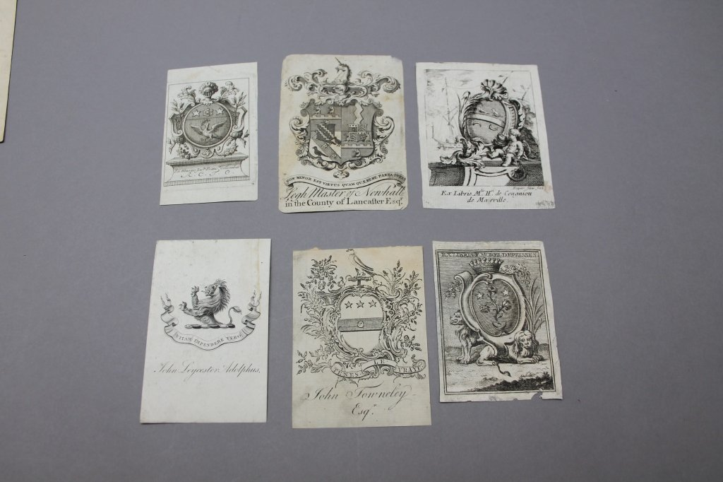 15 Engraved & Printed Bookplates: 17th-20th C - 2