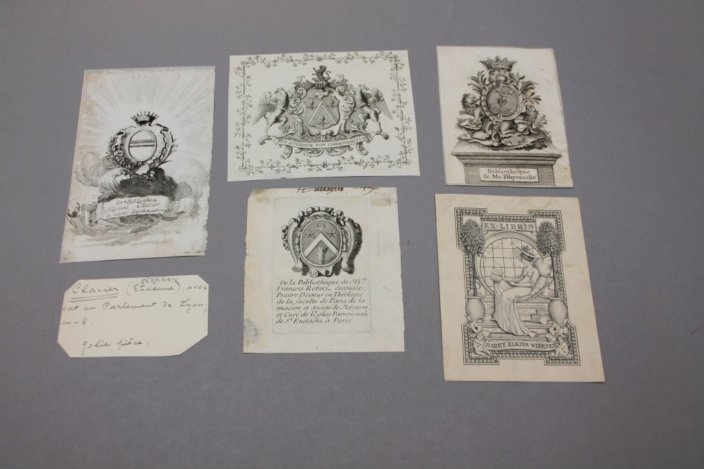 15 Engraved & Printed Bookplates: 17th-20th C - 4
