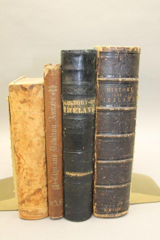 4 Books incl: Clynn, et. al THE ANNALS OF IRELAND. - 4