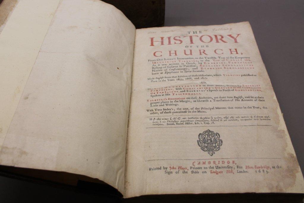 THE HISTORY OF THE CHURCH... Cambridge: 1683. - 8