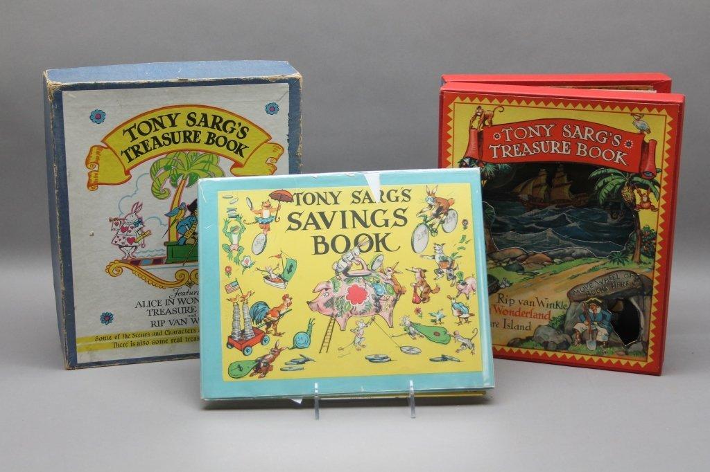 2 TONY SARG'S Books w/ TREASURE BOOK. (1942).
