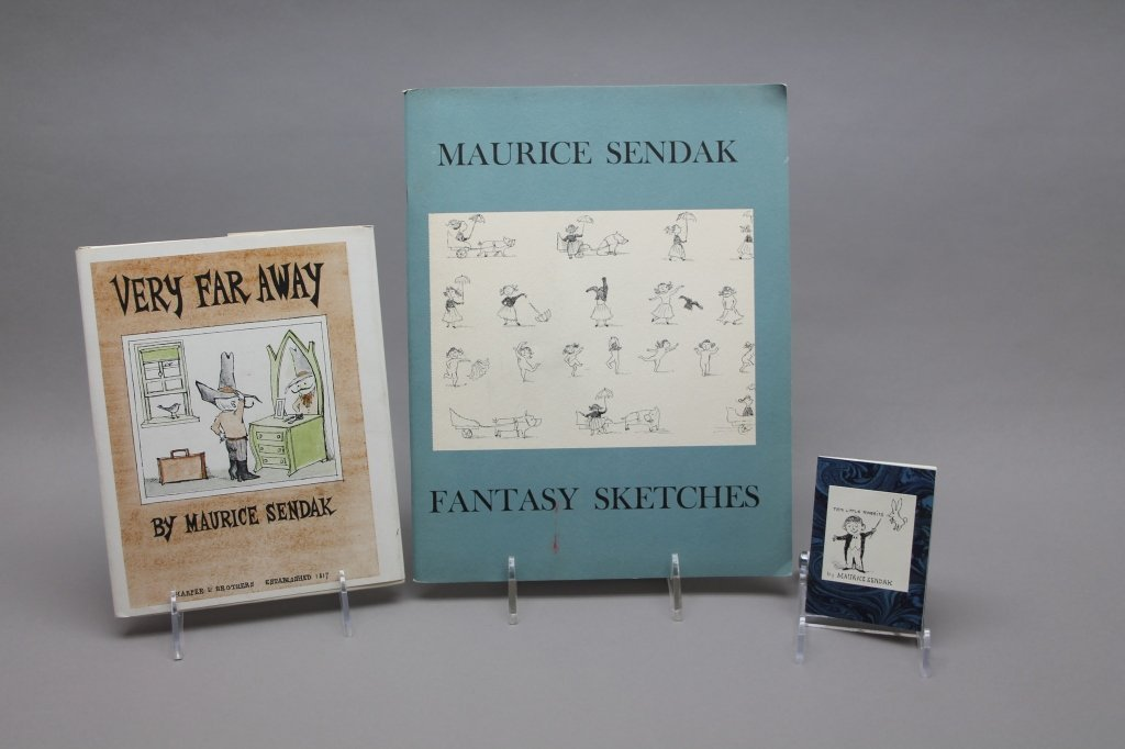3 signed books: Maurice Sendak.