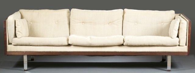 Jydsk Mobelvaerk Mid-Century modern rosewood sofa.