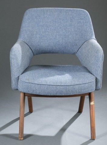 Mid-Century Modern fabric armchair.