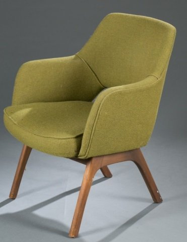 Mid-Century Modern fabric armchair. - 4