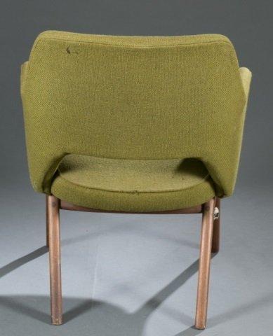 Mid-Century Modern fabric armchair. - 5
