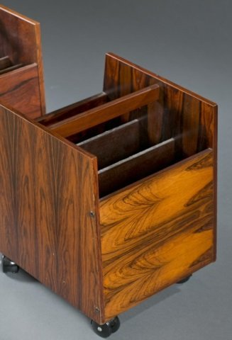 Pair of Mid-Century modern rosewood magazine racks - 4