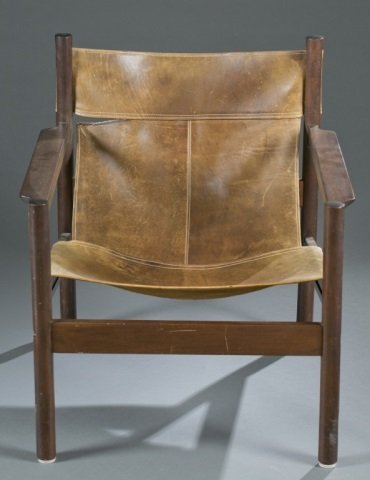 Michael Arnoult Mid-century sling armchair.