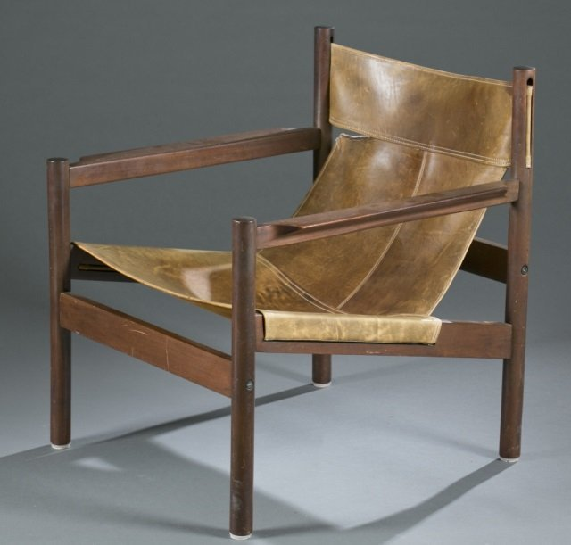 Michael Arnoult Mid-century sling armchair. - 4
