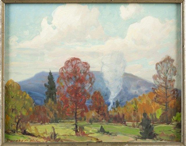 Dwight Holmes, forest landscape. 1960. - 2