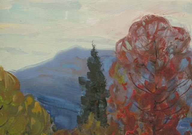 Dwight Holmes, forest landscape. 1960. - 4