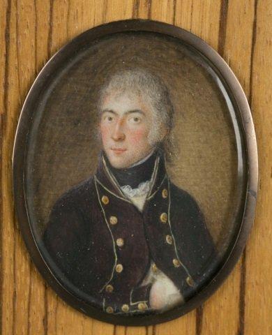 Group of 9 framed portrait miniatures. - 2