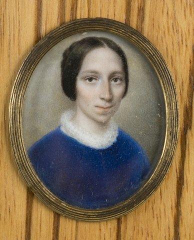 Group of 9 framed portrait miniatures. - 5