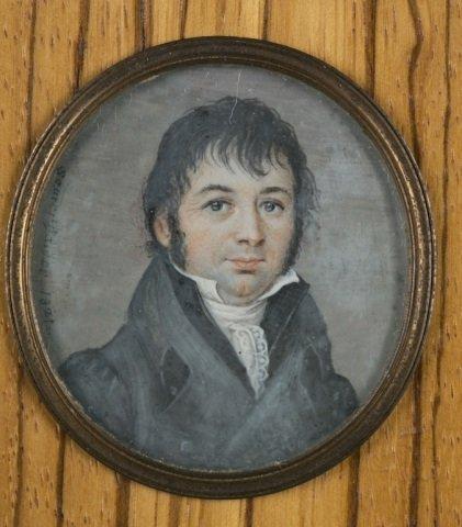 Group of 9 framed portrait miniatures. - 6