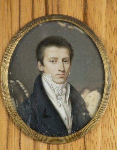Group of 9 framed portrait miniatures. - 9