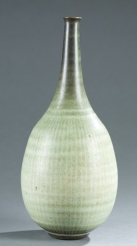Harrison McIntosh studio pottery bottle vase.