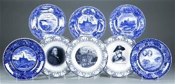 8 Transferware plates.