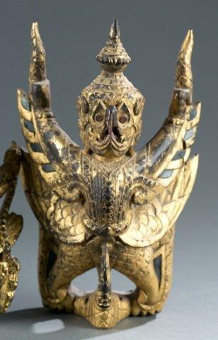 Group of 2 Garuda figures. - 2