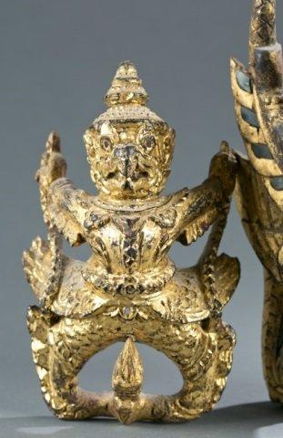 Group of 2 Garuda figures. - 3