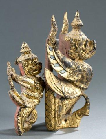 Group of 2 Garuda figures. - 4