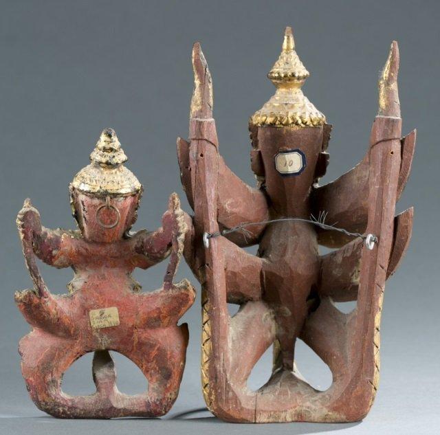 Group of 2 Garuda figures. - 5