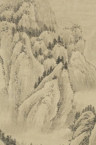 Chinese landscape scroll painting. - 2