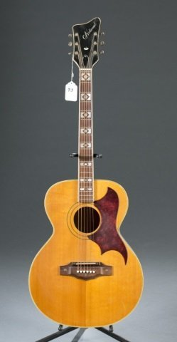 A National Deluxe acoustic guitar. c.1968