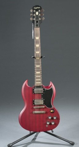 An Epiphone SG electric guitar c.2005