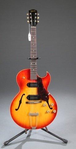 A Gibson ES-125 hollow body electric guitar, sunbu