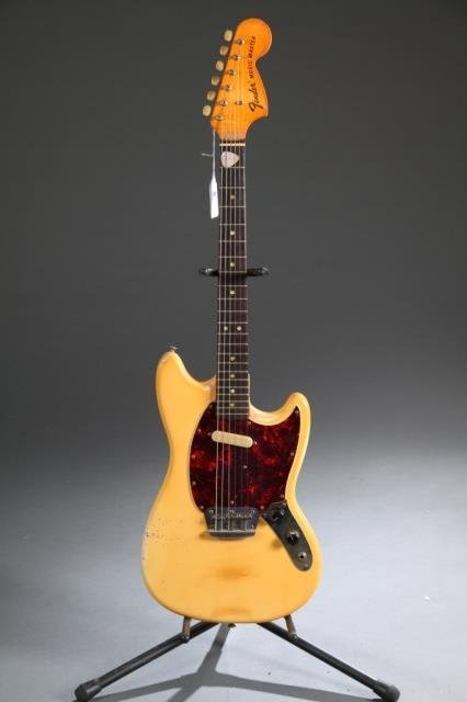 A Fender Musicmaster electric guitar, Serial #: 36
