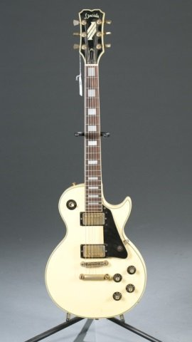 A Lincoln Les Paul style electric guitar, Serial #