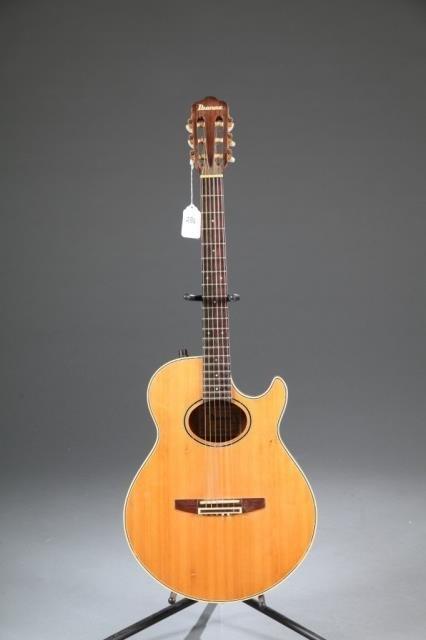 An Ibanez AE-150 acoustic guitar, Serial #: 830904